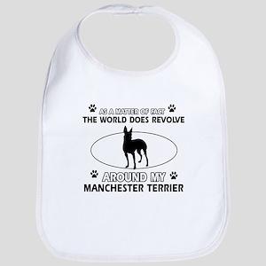 Manchester Terrier Dog breed designs Bib