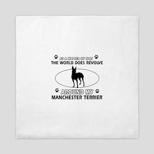 Manchester Terrier Dog breed designs Queen Duvet