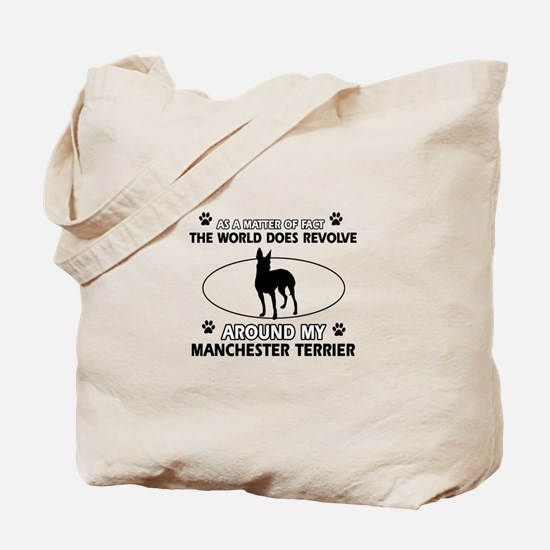 Manchester Terrier Dog breed designs Tote Bag