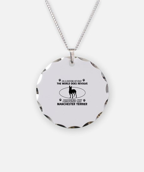 Manchester Terrier Dog breed designs Necklace