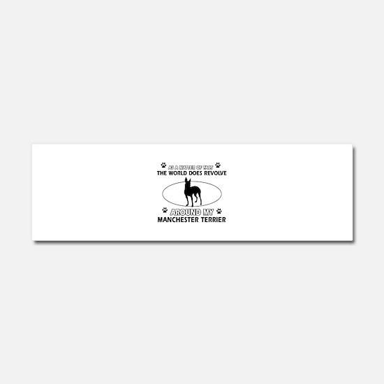 Manchester Terrier Dog breed designs Car Magnet 10