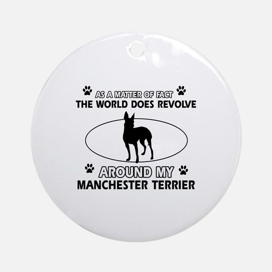 Manchester Terrier Dog breed designs Ornament (Rou