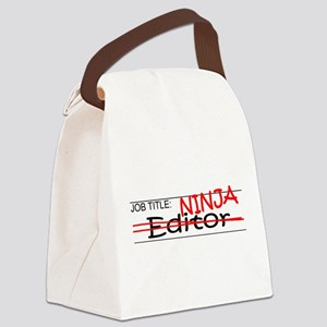 Job Ninja Editor Canvas Lunch Bag