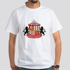 Vintage Sunderland AFC Crest White T-Shirt