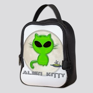 alien kitty Neoprene Lunch Bag