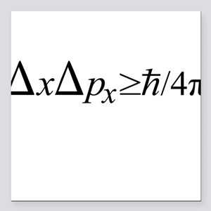 Heisenberg Uncertainty Principle Square Car Magnet