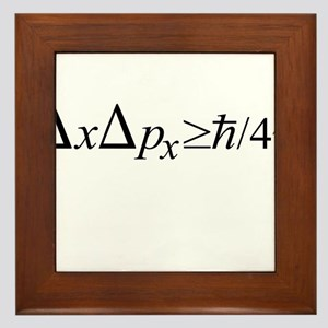 Heisenberg Uncertainty Principle Framed Tile