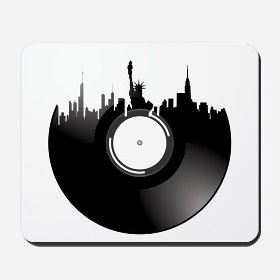 New York City Vinyl Record Mousepad