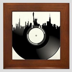 New York City Vinyl Record Framed Tile