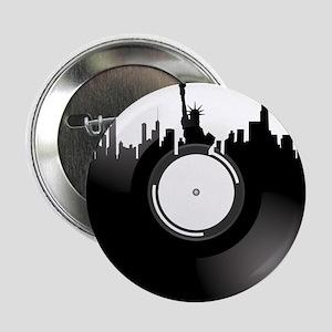 "New York City Vinyl Record 2.25"" Button"