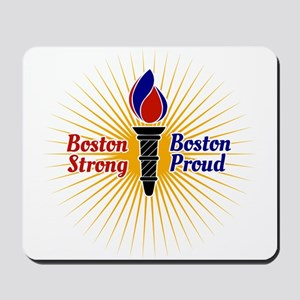 Boston Strong, Boston Proud Torch Mousepad