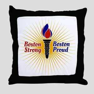 Boston Strong, Boston Proud Torch Throw Pillow