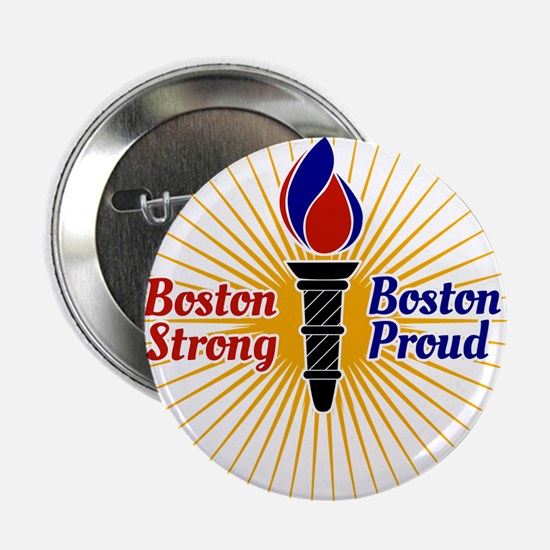 "Boston Strong, Boston Proud Torch 2.25"" Button (10"