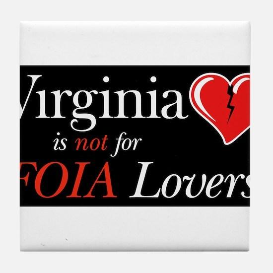 Cute Virginia lovers Tile Coaster