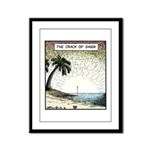 The crack of Dawn Framed Panel Print