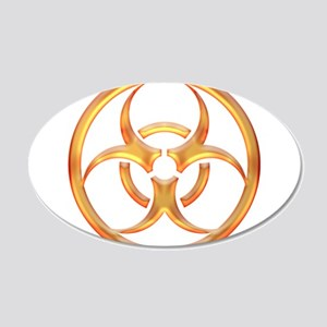 Biohazard Gold Wall Decal
