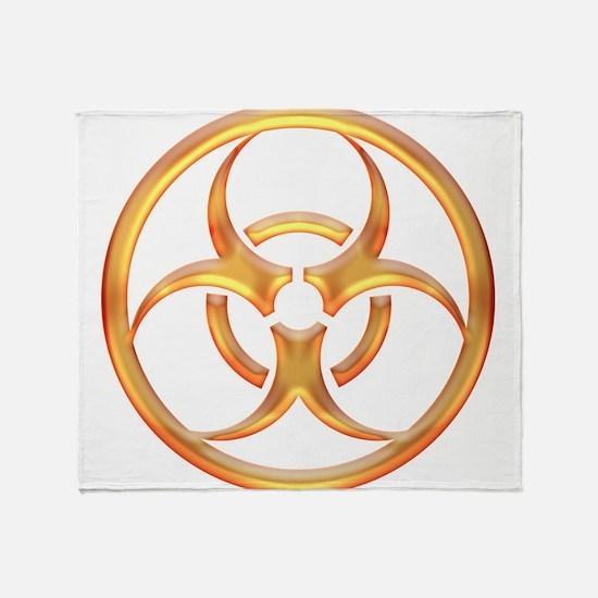 Biohazard Gold Throw Blanket