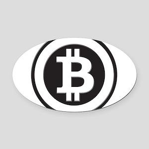 Bitcoin Oval Car Magnet