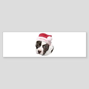 Christmas American Pit Bull Terrier Sticker (Bumpe