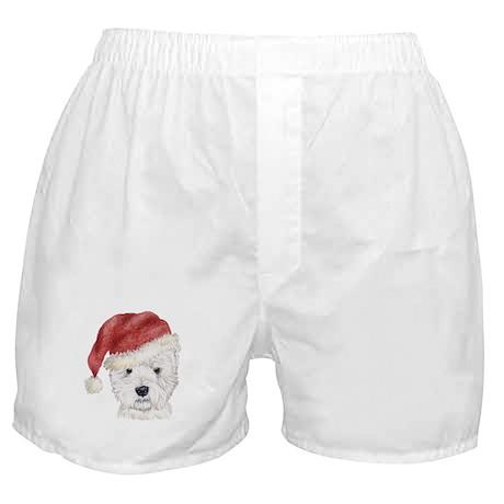 Christmas Westhighland White Boxer Shorts
