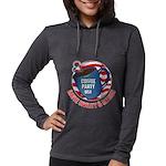 Hoodie T-shirt (Women)   Coffee Party USA Long Sle