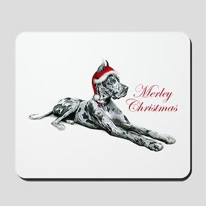 Great Dane Merley Christmas Mousepad