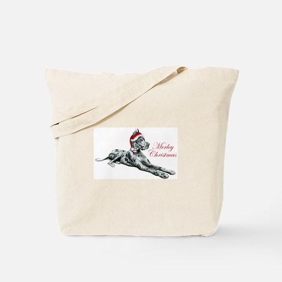 Great Dane Merley Christmas Tote Bag