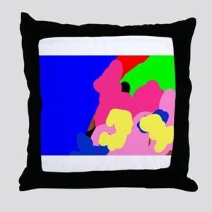 Roy Colouful Abstract Throw Pillow