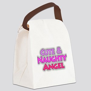 Cute And Naughty Angel Pink Canvas Lunch Bag