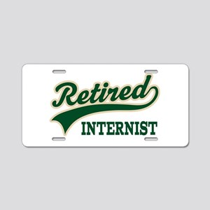 Retired Internist Aluminum License Plate