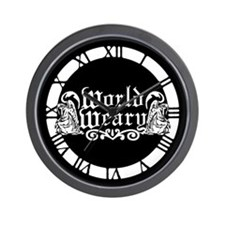 World Weary Wall Clock