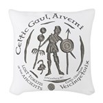 Celtic Chieftain Coin Woven Throw Pillow