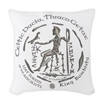 Celtic King Coin Woven Throw Pillow