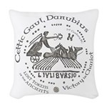 Celtic Victory Chariot Coin Woven Throw Pillow