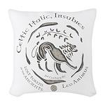 Celtic Lion Coin Woven Throw Pillow