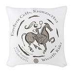 Celtic Wreath Rider Coin Woven Throw Pillow