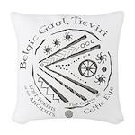 Celtic Eye Coin Woven Throw Pillow