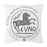 Celtic Horse Coin Woven Throw Pillow