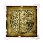 Celtic Letter G Woven Throw Pillow
