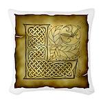 Celtic Letter L Woven Throw Pillow