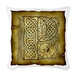 Celtic Letter P Woven Throw Pillow