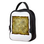 Celtic Letter R Neoprene Lunch Bag