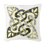 Celtic Dark Sigil Woven Throw Pillow