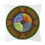 Celtic Elements Woven Throw Pillow