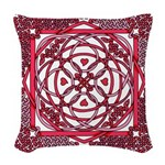 Celtic Valentine Woven Throw Pillow