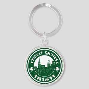 New York Irish American Keychains