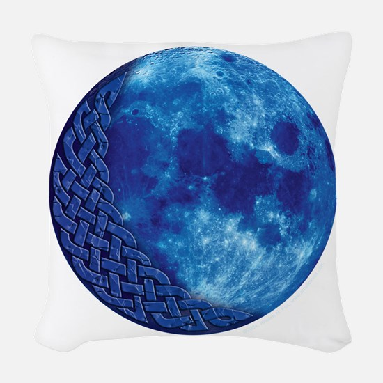Celtic Blue Moon Woven Throw Pillow