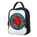 Celtic Rose Stained Glass Neoprene Lunch Bag
