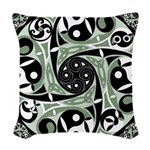 Celtic Spiral Stepping Stone Woven Throw Pillow