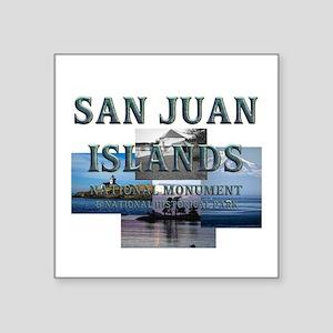 "ABH San Juan Islands Square Sticker 3"" x 3"""